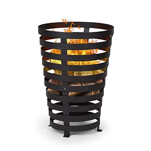 Blumfeldt Verus • Braséro de Jardin • Support Stable en Acier • Noir