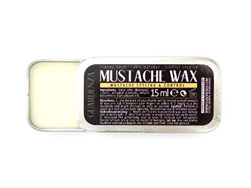 twachs - MUSTACHE WAX - Sehr starker Halt - Ganz natürlich 15ml - Schnurrbartwachs für Styling & Kontrolle ()