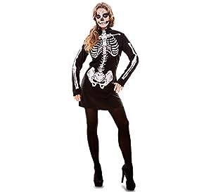 Fyasa 706097-t04esqueleto niña disfraz, tamaño grande