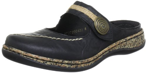 Rieker 46391, Women's Clogs, Black (Schwarz / 00), 6 UK (39 EU)