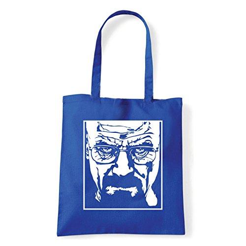 Art T-shirt, Borsa Shoulder Heisenberg, Shopper, Mare Blu