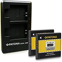 PATONA 2in1 Dual Caricabatteria con Micro USB + 2x Batteria NB-11L per Canon Ixus 125 HS | 132 | 135 | 140 | 145 | 150 | 155 | 240 HS - Canon PowerShot A1400 | A2300 | A2400 IS | A2500 | A2600