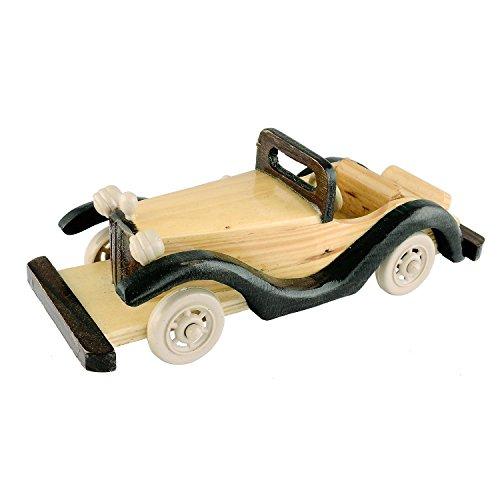 The Hue Cottage voiture jouets vintage bois de style main indien pièce maîtresse brune intérieur décoration de maison