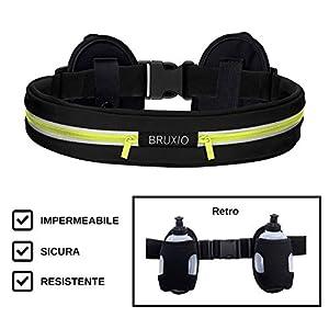 BRUXIO Marsupio Running Uomo Donna New Edition Cintura Sportiva Borraccia Removibile Porta Cellulare Impermeabile… 4 spesavip