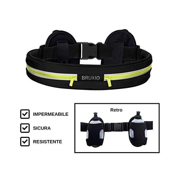 BRUXIO Marsupio Running Uomo Donna New Edition Cintura Sportiva Borraccia Removibile Porta Cellulare Impermeabile… 1 spesavip