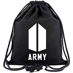 DJHFJ 1PC BTS Bangtan Boy BTS Mochila con cordón Rap Monster BTS Jimin BTS Jin BTS Suga BTS Jungkook BTS Koya BTS V BTS Bolso de Mano J Hope para los fanáticos de BTS (Army)