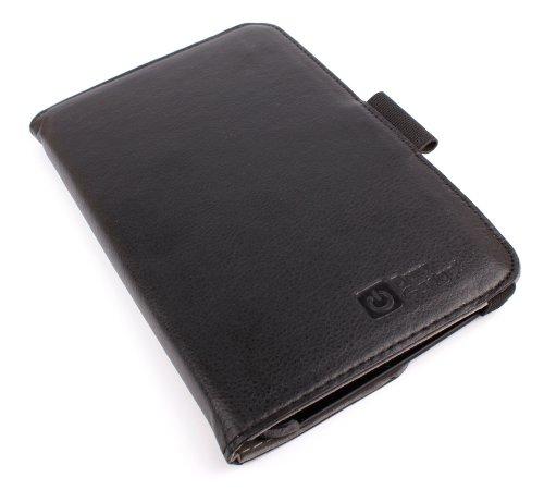 DURAGADGET schwarze PU-Lederschutzhülle mit drehbarer Stand- und Präsentationsfunktion für das SAMSUNG GALAXY TAB 3 8.0 SM-T310 (WiFi) / SM-T311 (3G) / SM-T315 (4G) 8 Zoll Tablet PC