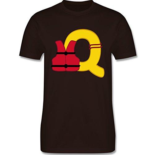 Anfangsbuchstaben - Q Schifffahrt - Herren Premium T-Shirt Braun