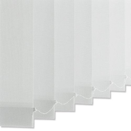 INTERDECO Lamellenvorhang Vertikaljalousien Vertikallamellen Komplettset in Weiß mit 89 mm Lamellen, 200 x 260 cm