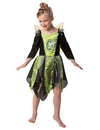 Trick Or Treat Tinkerbell Halloween Kostüm für Kinder grün schwarz m (Kinder Trick Treat-kostüme Or Für)