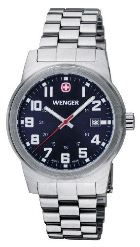 Wenger Field Classic - Reloj de cuarzo para mujer, con correa de acero inoxidable, color plateado
