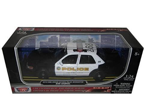 2010 Ford Crown Victoria San Gabriel Police Car 1/24 by Motormax 76937 by Motormax