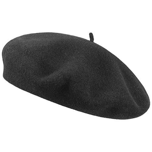 2b282427953948 Laulhere Beret Classique Bonnet de Feutre (55 cm - Noir)