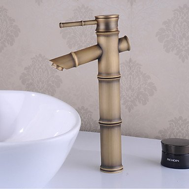 WA Wasserhahn,Keramik-Ventil für Bronze Centerset Wasserfall Badarmaturen single single Loch -
