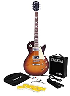 Rockburn LP2 Style Guitar Package (Include 10 W Amp, Gig Bag, Strings, Strap, Lead and Picks) - Tobacco Sunburst (B002S0NONU) | Amazon price tracker / tracking, Amazon price history charts, Amazon price watches, Amazon price drop alerts