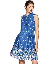 global desi Women's A-Line Knee-Long Dress