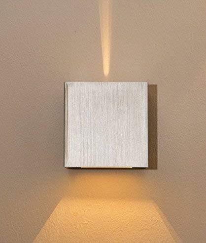 LED Up/Down Applique Applique Amon large etroite lumière d'ambiance G9 d'argent 3W