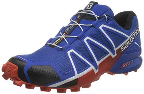 Salomon Speedcross 4, Scarpe da Trail Running Uomo, Blu (Blue Yonder/Black/Lava Orange), 44 EU