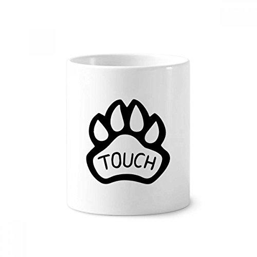 diythinker Hund Paw Zitat DIY Design Keramik Zahnbürste Stifthalter Becher weiß Tasse 350ml Geschenk 9,6cm hoch x 8,2cm Durchmesser (Design Hund Tee)