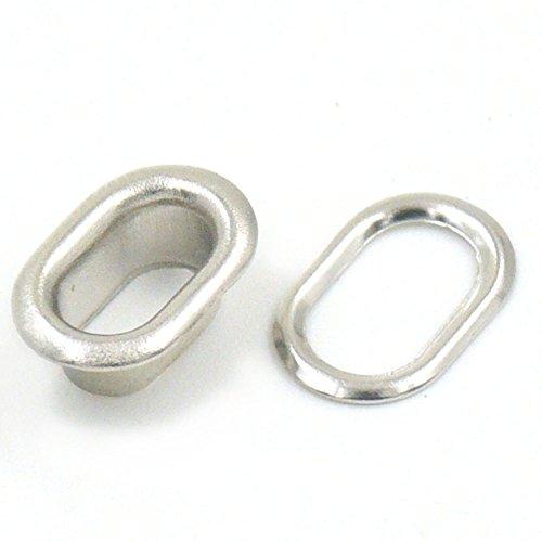 120Sets Ovale Form Metall Tülle Ösen 7mm 13mm 25mm 30mm 37mm für Leinwand Kleidung Portemonnaie festschnallen Leder Rückseite 7mm(0.28