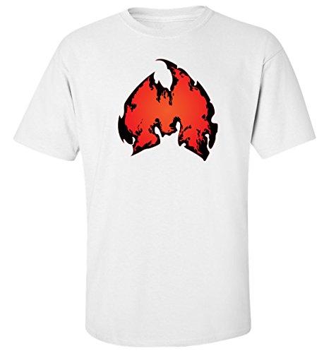 Wu tang clan feu logo dope rap hip hop t-shirt homme blanc coton (L)