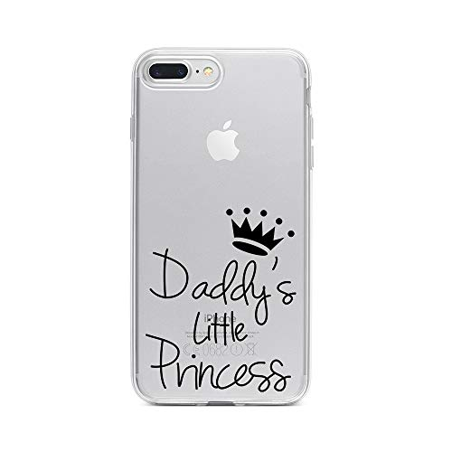 licaso Apple iPhone 8 Plus Handyhülle Smartphone Apple Case aus TPU mit Daddy's Little Princess Print Motiv Slim Design Transparent Cover Schutz Hülle Protector Soft Aufdruck Lustig Funny Druck