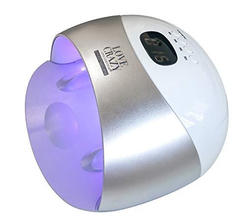 LOVECRAZY Lámpara Secador Uñas 48W LED UV 4 Temporizadores
