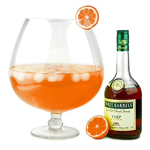 Grande Brandy Glasses 256oz / 7.2ltr - Case Of 4 | Giant Brandy Glasses, Novelty Brandy Glasses, Extra Large Brandy Glasses - Ideal As A Punch Bowl Or Vase