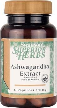 Swanson Ashwagandha Extract 450mg, 60 Capsules
