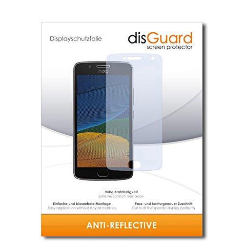 disGuard® Bildschirmschutzfolie [Anti-Reflex] kompatibel mit Motorola Moto G5 Plus [2 Stück] Entspiegelnd, Matt, Antireflektierend, Extrem Kratzfest, Anti-Fingerabdruck - Panzerglas Folie, Schutzfolie