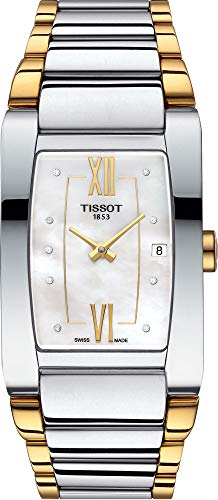 Tissot Damen-Uhren Analog Quarz One Size Silber/Gold Edelstahl 32002022