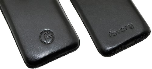 favory Pochette pour/Apple iPhone 4/4S/étui en cuir housse protection Pochette de protection en cuir pour * spécialement-avec languette d'extraction * en noir
