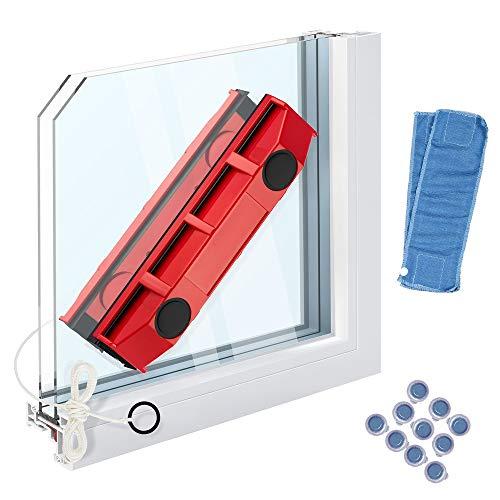 TOL MY Starker magnetischer Fensterreiniger, magnetischer Fensterreiniger für doppelt verglaste Fenster. Geeignet für 20-28 mm.