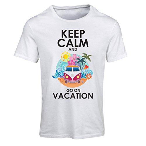 Frauen T-Shirt Gehen Sie auf Urlaub, Nette Outfits, Strandkleidung, Resortabnutzung (Large Weiß Mehrfarben)