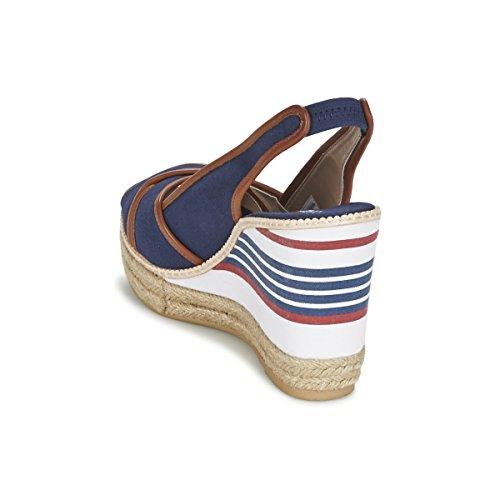 U.S. Polo ASSN. - Shoes - Sandalo da Donna, Scarpe da Donna, Zeppe aperte sul davanti - DORAS4082S6-C1 Blu scuro