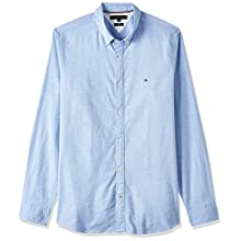 Tommy Hilfiger Men's Core Stretch Slim Oxford Casual, Blue (Shirt Blue 474), X-Small