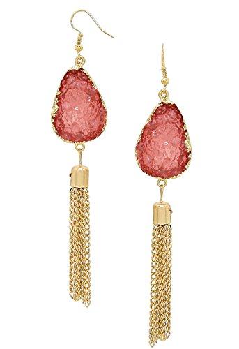Rosemarie Collections da donna nappa e Druzy pietra orecchini tono oro (Tono Oro Nappa)