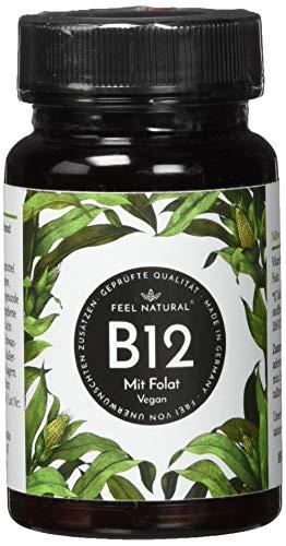 41usl4QRoKL - Vitamin B12-180 Tabletten (6 Monate). 1000µg mit bio-aktivem Methyl- und Adenosylcobalamin + Depotform Hydroxocobalamin + Quatrefolic® 5-MTHF. Laborgeprüft, vegan, hergestellt in Deutschland
