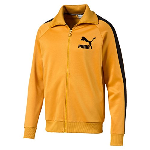 Puma Jacket Herren Track (PUMA T7 Vintage Track Jacket / Jacke Retro in Perfektion, Größe:S;Farbe:Mineral Yellow Black 48)