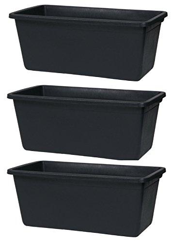 3er Set Mörtelkasten eckig 90L Maurertuppen schwarz Maurerkasten