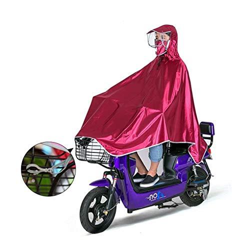 AA-SS Poncho Impermeabile per Moto Tessuto Resistente Oxford Scooter Pioggia Poncho Ciclo Pioggia Mantello Motocicletta Anti-Nebbia Copertura Antipioggia con Fessure a Specchio