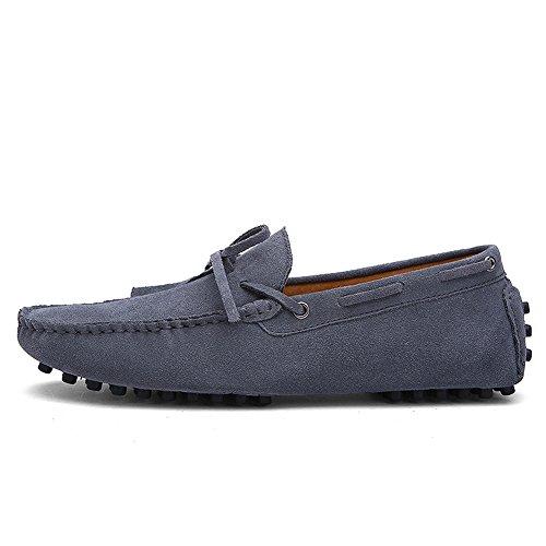 iLory Herren Mokassin Comfort Wildleder Loafers Schuhe Flache Fahren Halbschuhe Bootsschuhe (Wildleder-bootsschuhe)