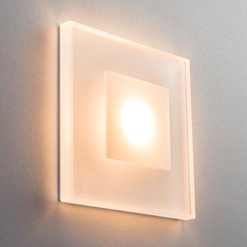 SET LED Treppenbeleuchtung Premium SunLED Max 230V 3W Glas Hochwertig  Wandleuchten Treppenlicht Mit Unterputzdose Treppen Stufen Beleuchtung ...
