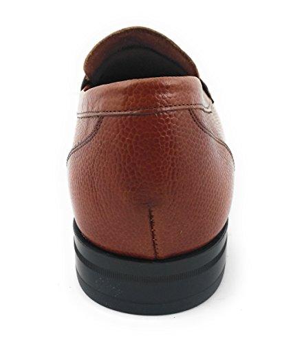 Zerimar Scarpe uomo eleganti in pelle nautico con suola in gomma flessibile SALDI- ORA O MAI 100% pelle di alta qualità La marcatura di fashion design Rivestimento interno Whisky