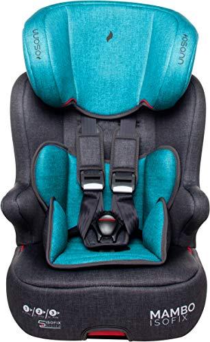 Osann Mambo Isofix, Kinderautositz Gruppe 1/2/3 (9-36 kg), Blue Melange (Autositz 5-punkt-gurt)