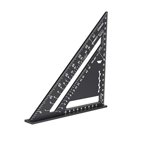 Majome Aluminium-Lineal Carpenter Square 7-Zoll-Messplan-Werkzeug für den täglichen Unterricht -