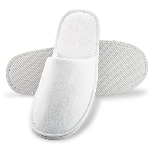 Hotel Slippers | Spa Quality Slippers (5 Pairs, Closed Toe)