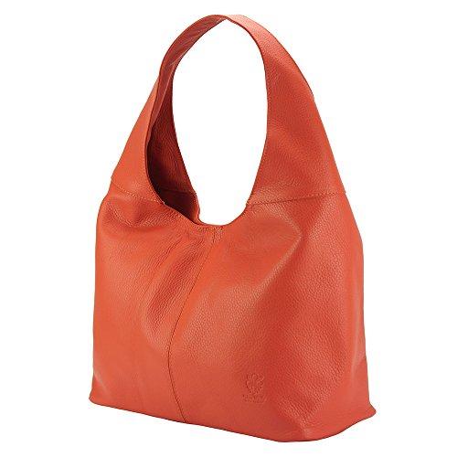 Leicht und anschmiegsam verleiht die Caïssa Hobo - 0834 - Handtaschen Korallenrot