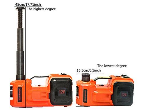 YASI MFG® 3.5 Tonne 45cm Elektrischer Hydraulischer Wagenheber hydraulisch Hydraulikheber für SUV und Auto