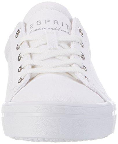 ESPRIT Mindy Lace Up, Scarpe da Ginnastica Basse Donna Bianco (100 White)